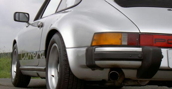 1974 Porsche Carrera 2.7 silver perspective