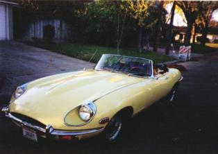 1970 Jaguar XKE Roadster perspective